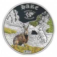 Монета Острова Кука 2 доллара 2014 Кролик