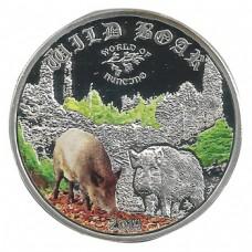 Монета Острова Кука 2 доллара 2014 Кабан