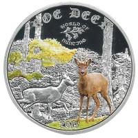 Монета Острова Кука 2 доллара 2014 Косуля