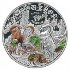 Монета Острова Кука 2 доллара 2015 Муфлон