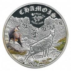 Монета Острова Кука 2 доллара 2014 Серна